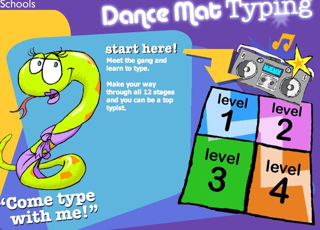 BBC Posts Dance Mat Typing Program On-Line | Keyboarding Research ...